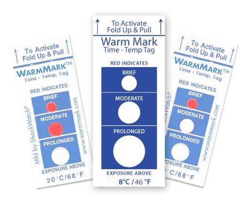 Термоиндикаторы холодовой цепи WarmMark™ Short-Run